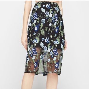 NWT BCBG Embroidered Floral Skirt!